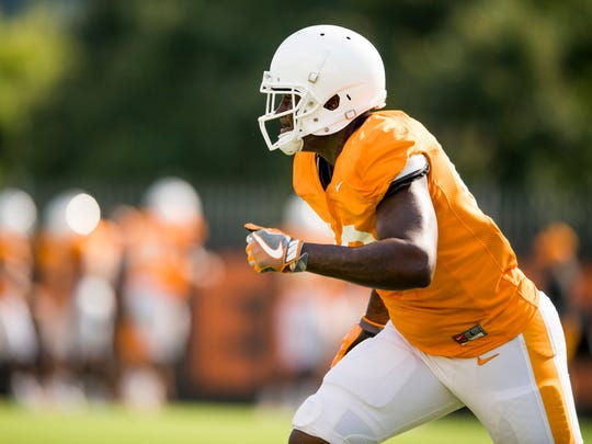 Tennessee linebacker JJ Peterson (40) during the team's afternoon football practice on Wednesday, September 19, 2018.