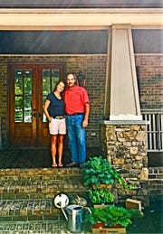 Hope and Scott Davis at their longtime home off Northshore Drive.