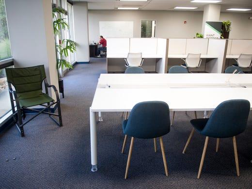 Work areas inside Upstart Knoxville.
