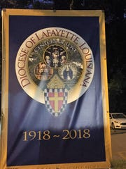 Roman Catholic Diocese of Lafayette sign