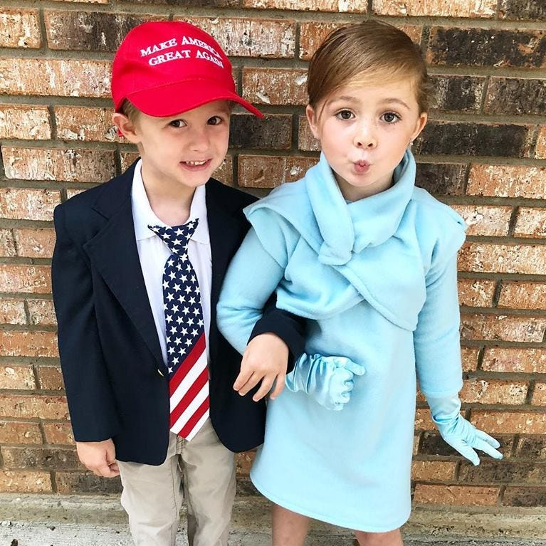 Meet America's cutest version of Donald and Melania Trump