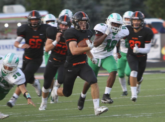 Brighton's Chris Seguin leads Livingston County with 456 rushing yards through four games.