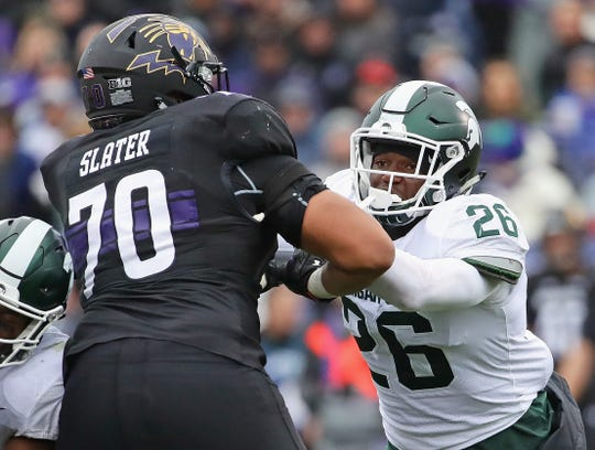 Michigan State's Brandon Bouyer-Randle spent last season going up against massive offensive tackles, while playing out of position as an undersized defensive end. This year, he's back at linebacker and with a new last name, Bouyer-Randle, instead of just Randle.