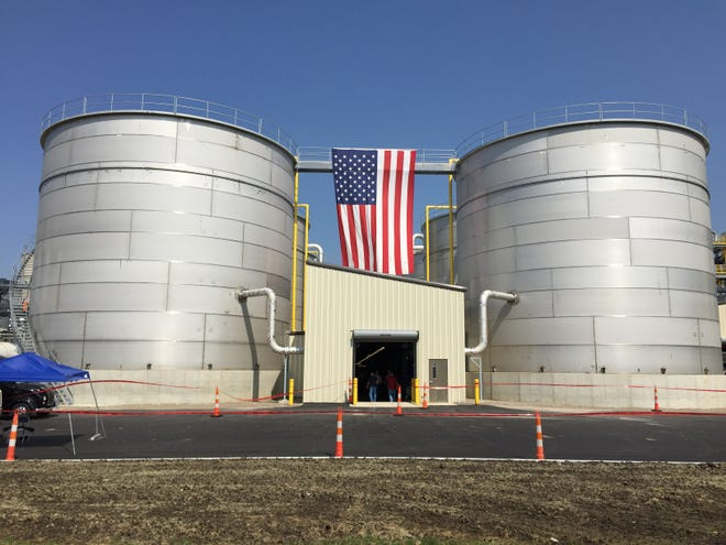 POET Biorefining built new fermentation tanks at its plant just outside Marion in a $120 million expansion that has more than doubled the plant's production capacity from 70 million gallons of ethanol to 150 million gallons.