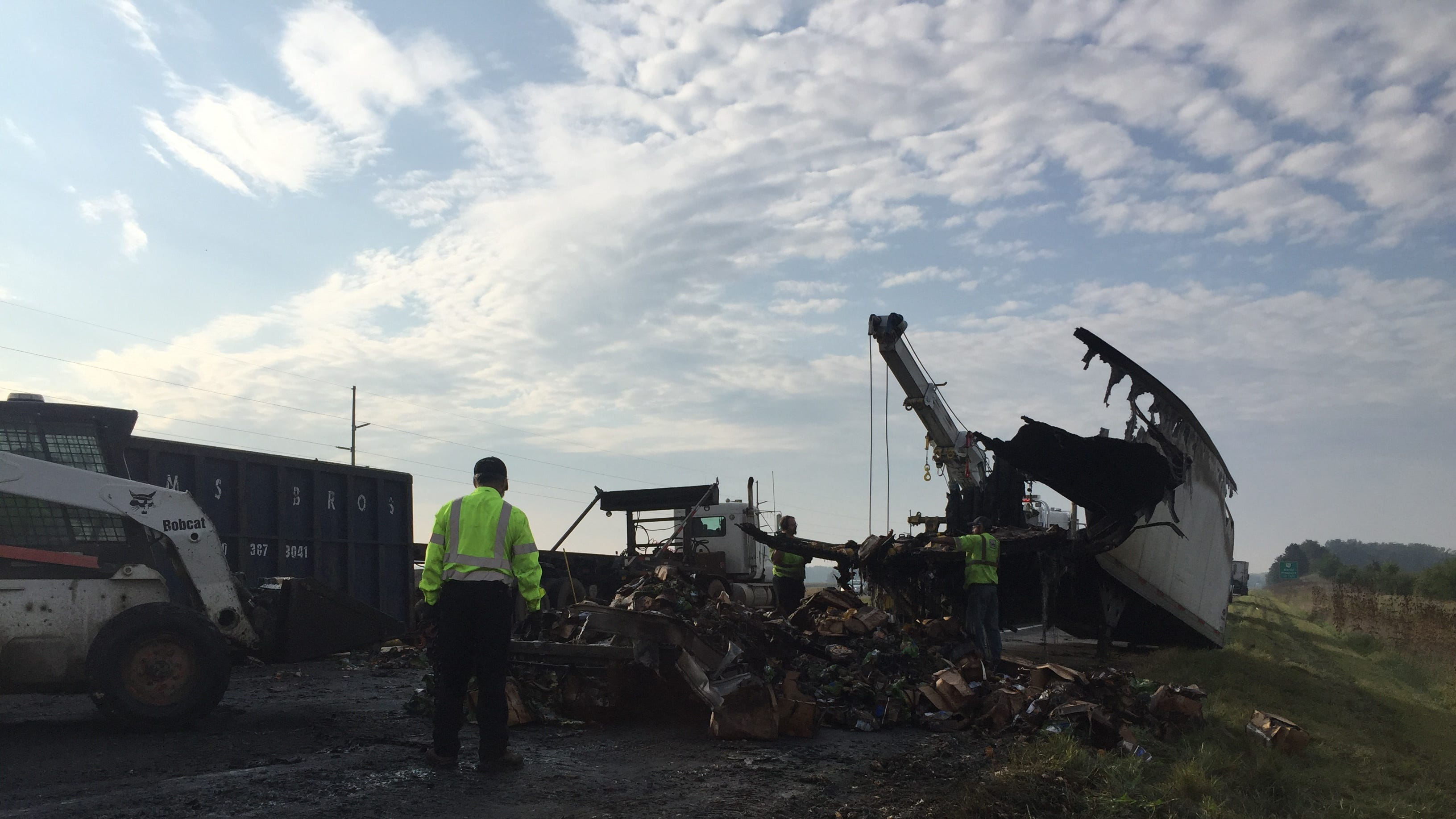 U.S. 23 reopened after Marion woman killed in fiery semi crash