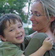 Scarlett Lewis and her son, Jesse