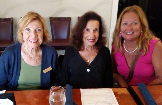 From left LaVonne Johnson, Jean King and Sharon Walklett .