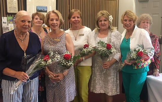 Celebrating September birthdays are Marie Zoda, Trisha Pease (membership), Ann Faruol, Linda Dolinger, Sharyn Rodger, Jackie Hays, and Patty Larkin (membership).