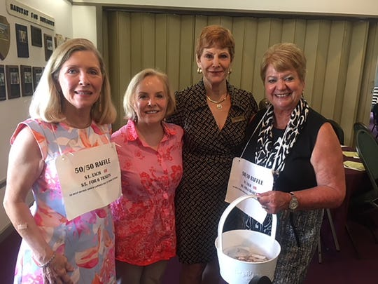 Raffle ticket seller Janet Dickens, Becca Scarborough, Pam Clune, and Pat Hagedorn-raffle ticket seller.