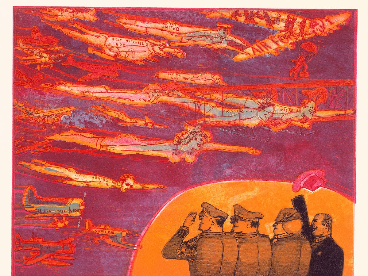 "Warrington Colescott's ""A Brief History of Flight"" (1973)"