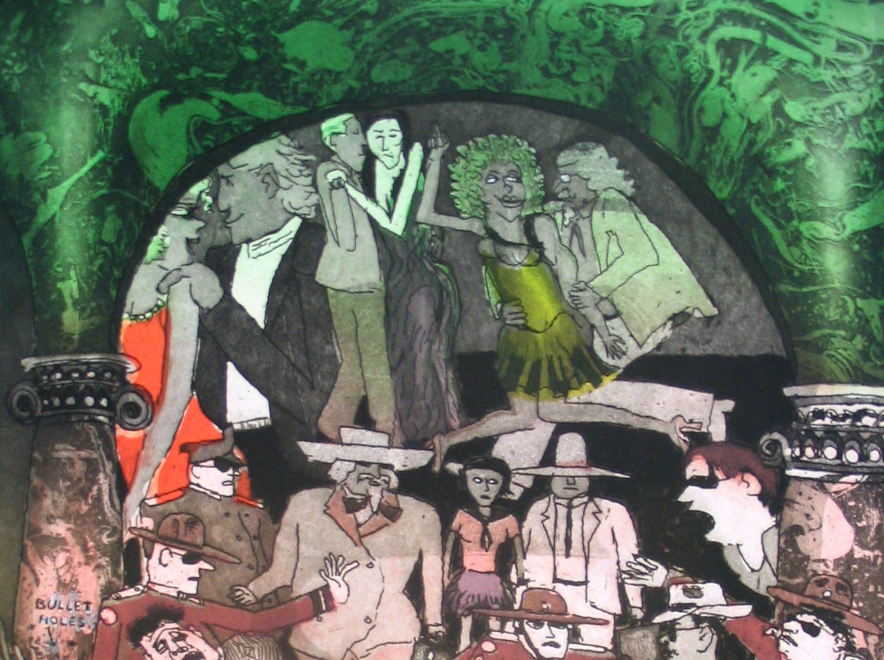 """Hit on Huey"" by Warrington Colescott"