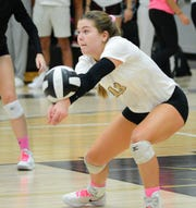 Southeast Conference offensive player of the year Holly Reinke of Franklin makes a pass during a match last season.