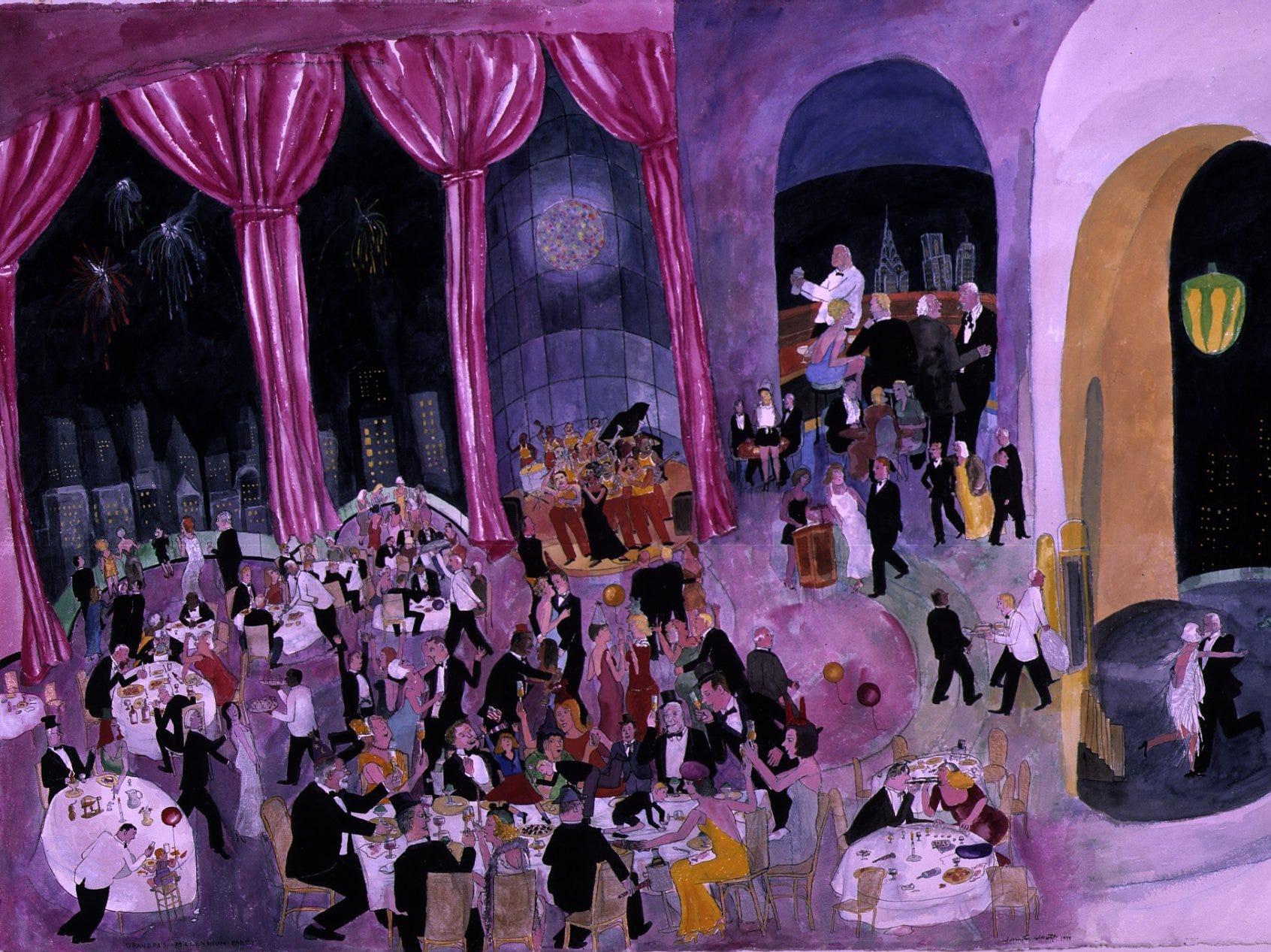 """""""Grandpa's Millennium Party"""" by Warrington Colescott"""