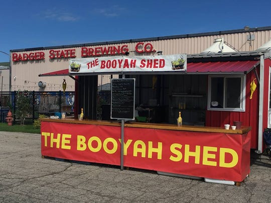 The Booyah Shed food truck sets up at Badger State Brewing on Packers home-game days.