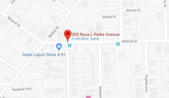 A Montgomery man was shot to death on Rosa Parks Avenue.