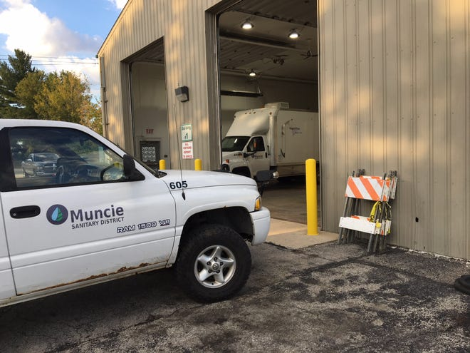 The Muncie Sanitary District sewer maintenance building off Kilgore Avenue on Tuesday, Sept. 18, 2018.