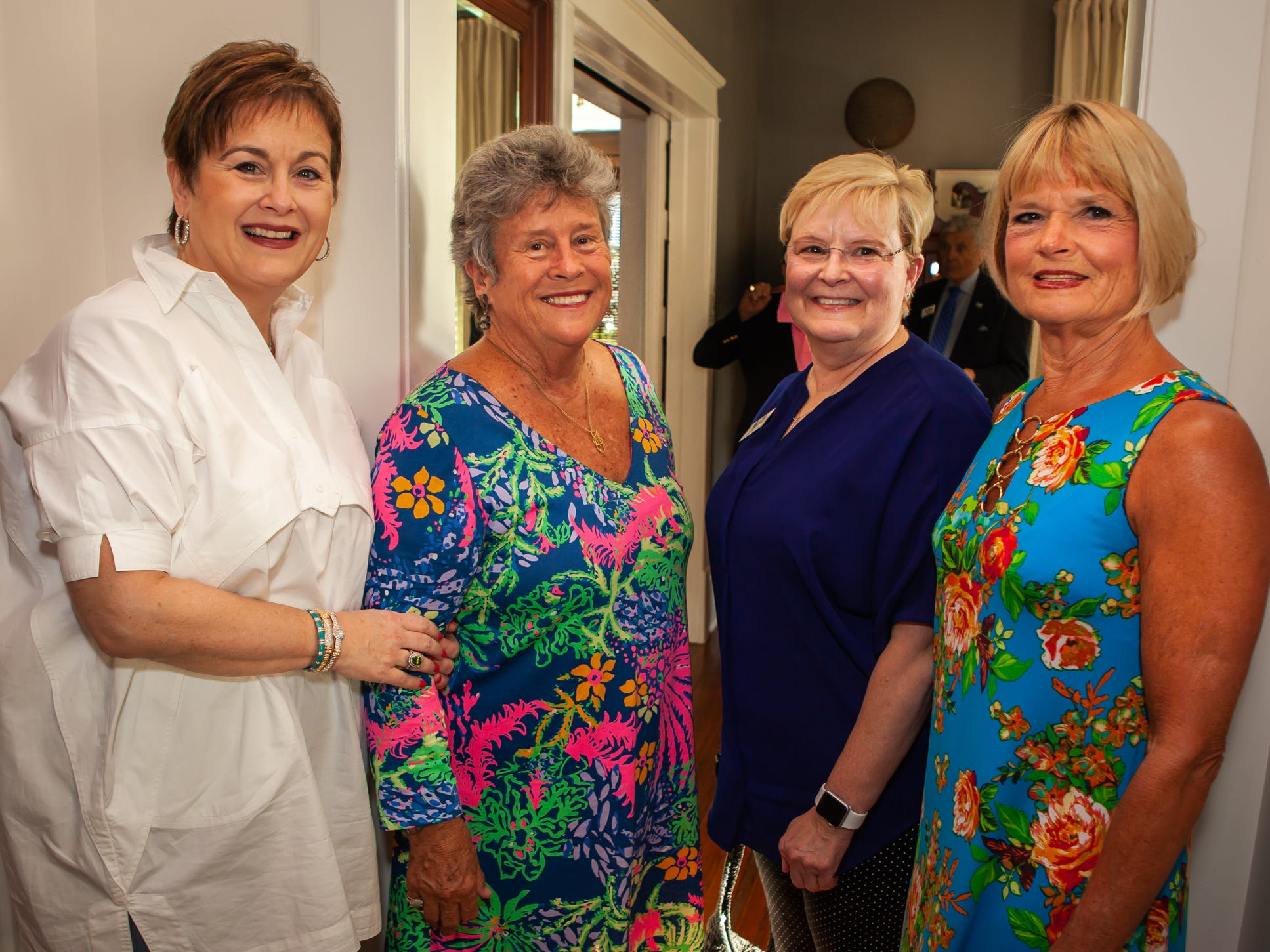 Lisa Halliburton, Andrea Calfee, Mary Beth Wilson and Risé Hayes at An Evening on Lytle, hosted by Main Street Murfreesboro/Rutherford County. The event was held at the home of Rick and Amy Cottle.