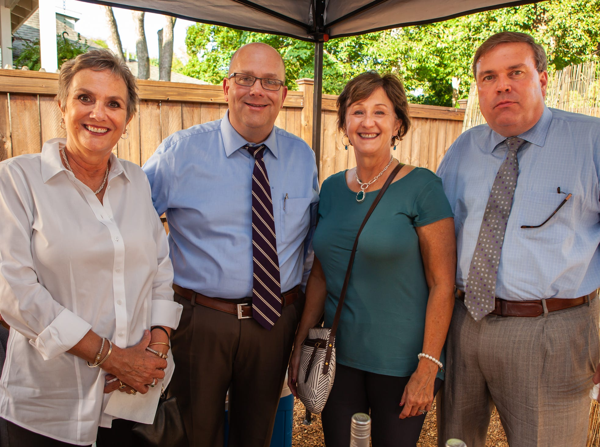 Melissa Warren, Sean Gilliland, Terri Donovan and Ken Halliburton at An Evening on Lytle, hosted by Main Street Murfreesboro/Rutherford County. The event was held at the home of Rick and Amy Cottle.