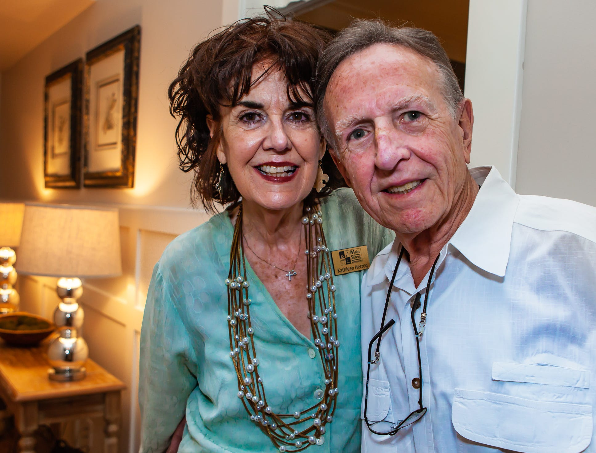 Kathleen Herzog and Mac McCord at An Evening on Lytle, hosted by Main Street Murfreesboro/Rutherford County. The event was held at the home of Rick and Amy Cottle.