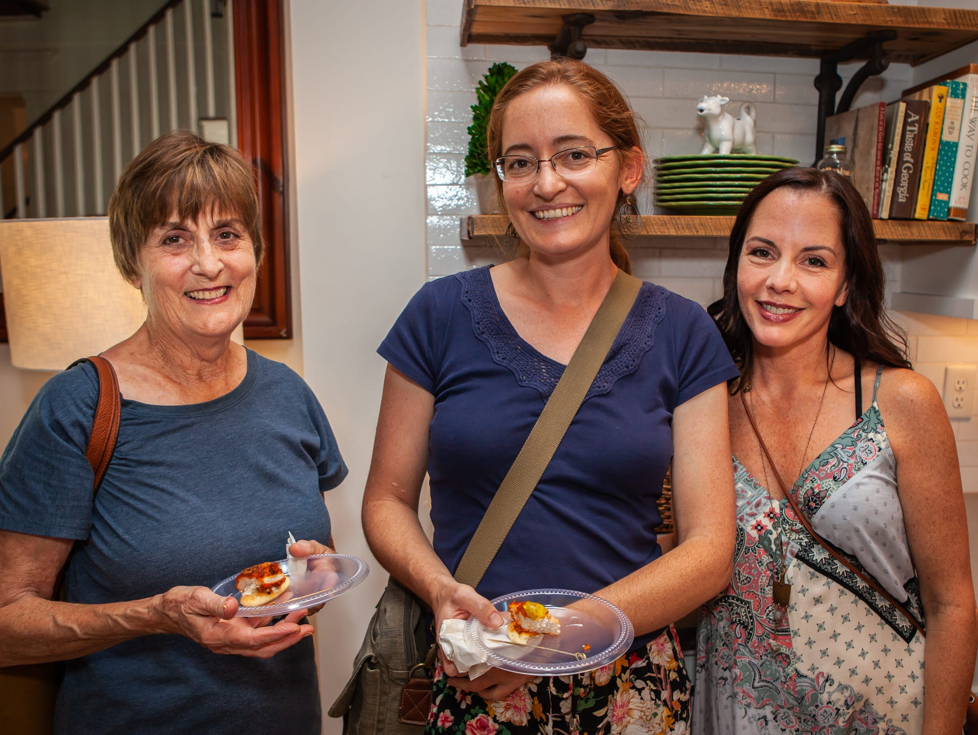 Joan Sutherland, Suzanne Duchacek and Sarah Jakes at An Evening on Lytle, hosted by Main Street Murfreesboro/Rutherford County. The event was held at the home of Rick and Amy Cottle.