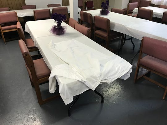 A white robe, similar to that worn by Ku Klux Klan members, was left behind by vandals at the Walnut Grove Missionary Baptist Church in Murfreesboro. Wednesday, Sept. 19, 2018