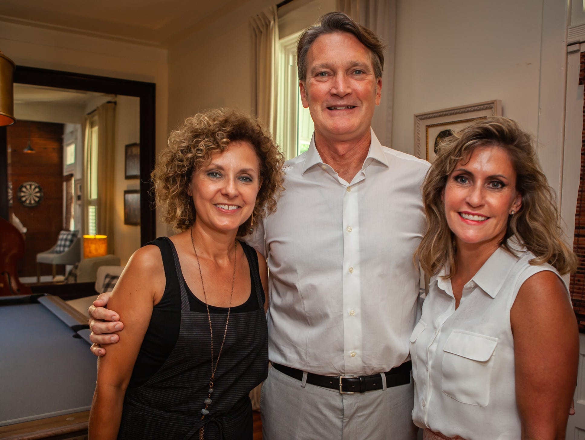 Amy & Rick Cottle with Ginny Togrye at An Evening on Lytle, hosted by Main Street Murfreesboro/Rutherford County. The Cottles opened their home for the event.