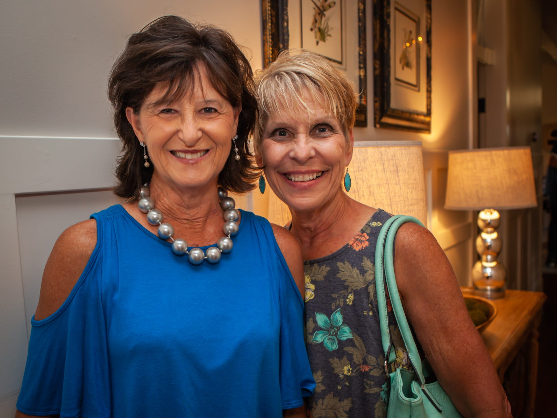 Brenda McFarlin and Debbie Williams at An Evening on Lytle, hosted by Main Street Murfreesboro/Rutherford County. The event was held at the home of Rick and Amy Cottle.