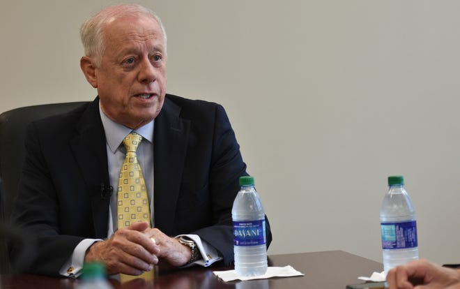 U.S. Senate candidate Phil Bredesen talks with The Tennessean Editorial Board on Wednesday, Sept. 19, 2018.