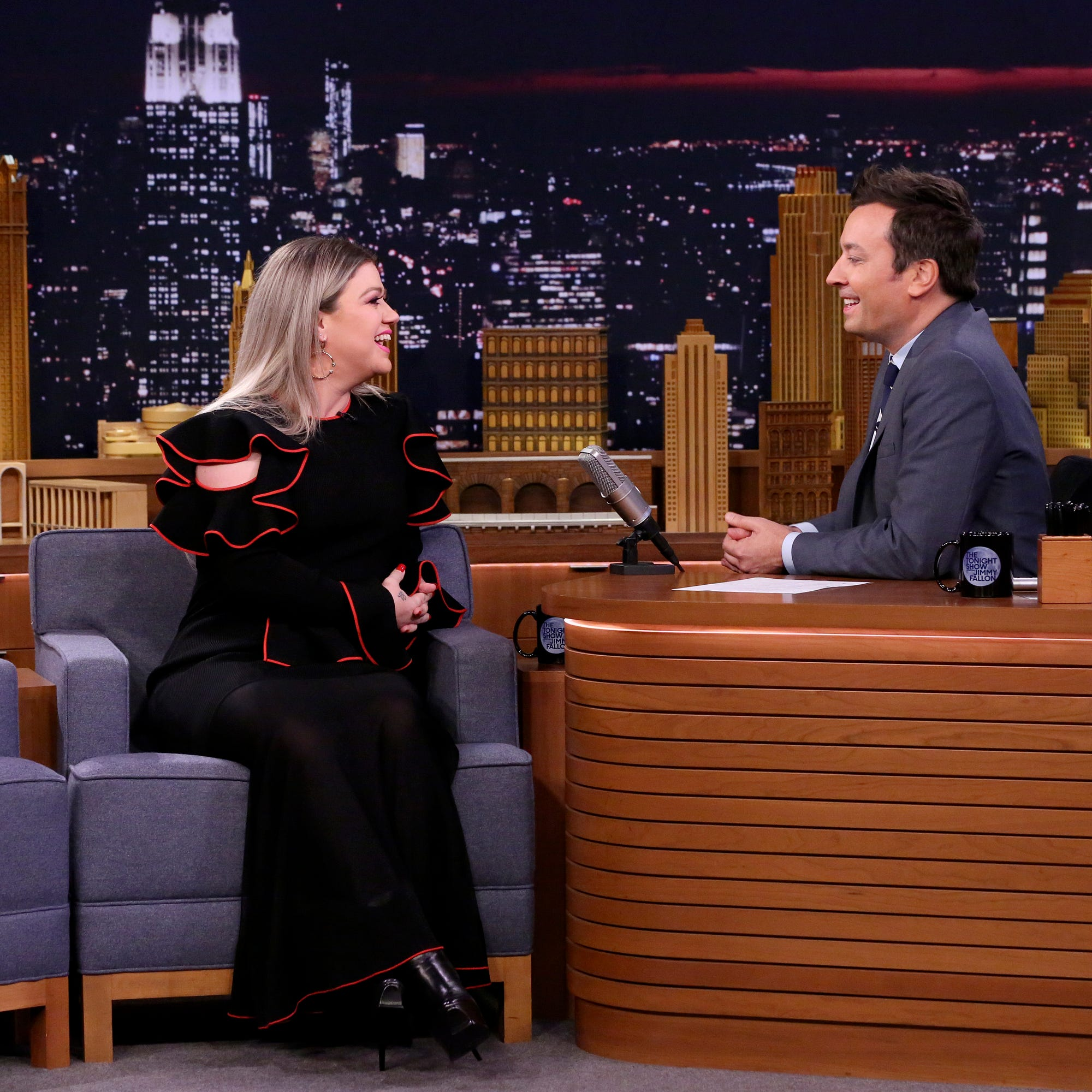 Singer Kelly Clarkson during an interview with...