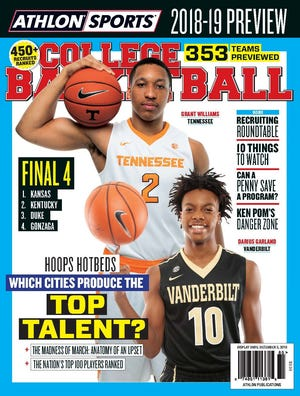 Former Brentwood Academy standout Darius Garland, 10, is the first freshman from Vanderbilt or Tennessee to be featured on the cover of Athlon Sports College Basketball Preview magazine.