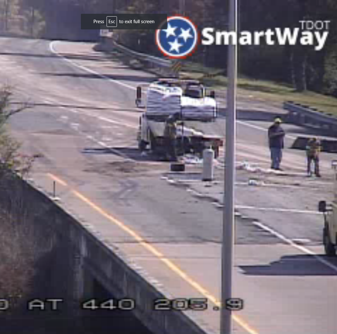 Nashville traffic: 300 gallons of parking lot sealant spilled, causing delays on I-440