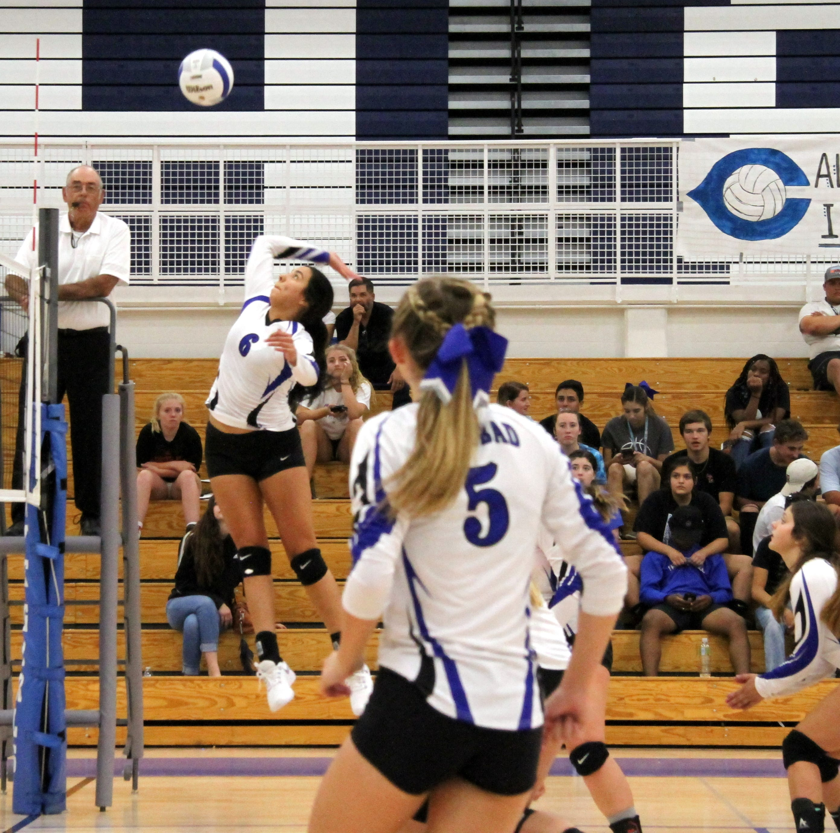 Cavegirls avoid meltdown to best Lovington in four sets