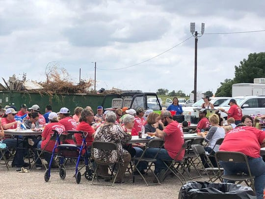 Volunteers take a well-deserved break following clean-up of the Eunice Lake area as part of the 9/11 Day of Service 2018.