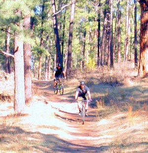 Mountain bikers have plenty of trails from which to choose in Ruidoso from Grindstone to Cedar Creek, where a downhill special route also was constructed.