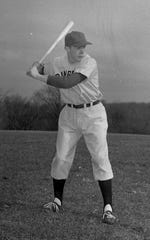 Pete Dawkins was a captain of Cranbrook's baseball team in 1955.