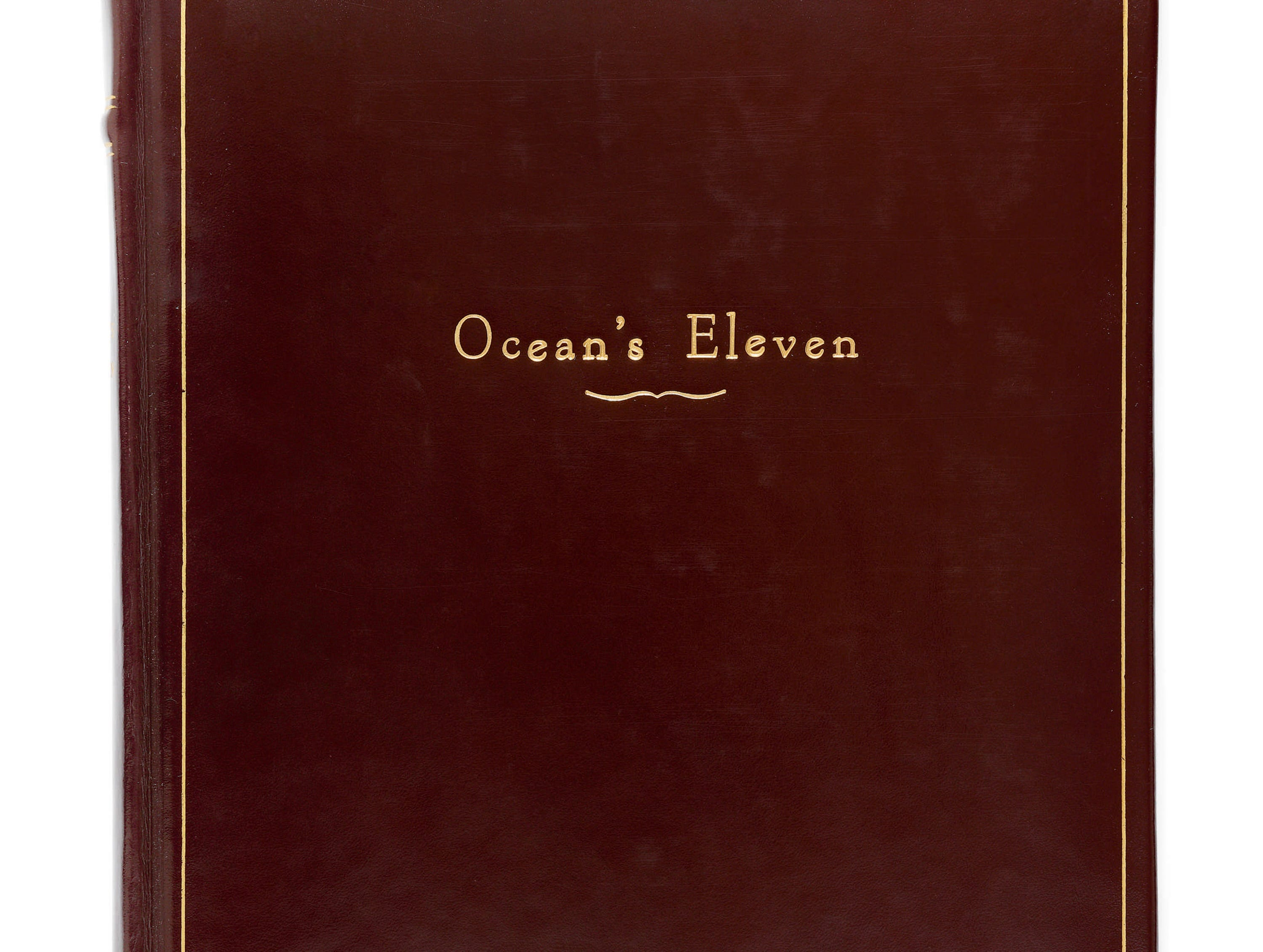 "Script for the 1960 Rat Pack film, ""Ocean's 11,"" presented in binding for Frank Sinatra"