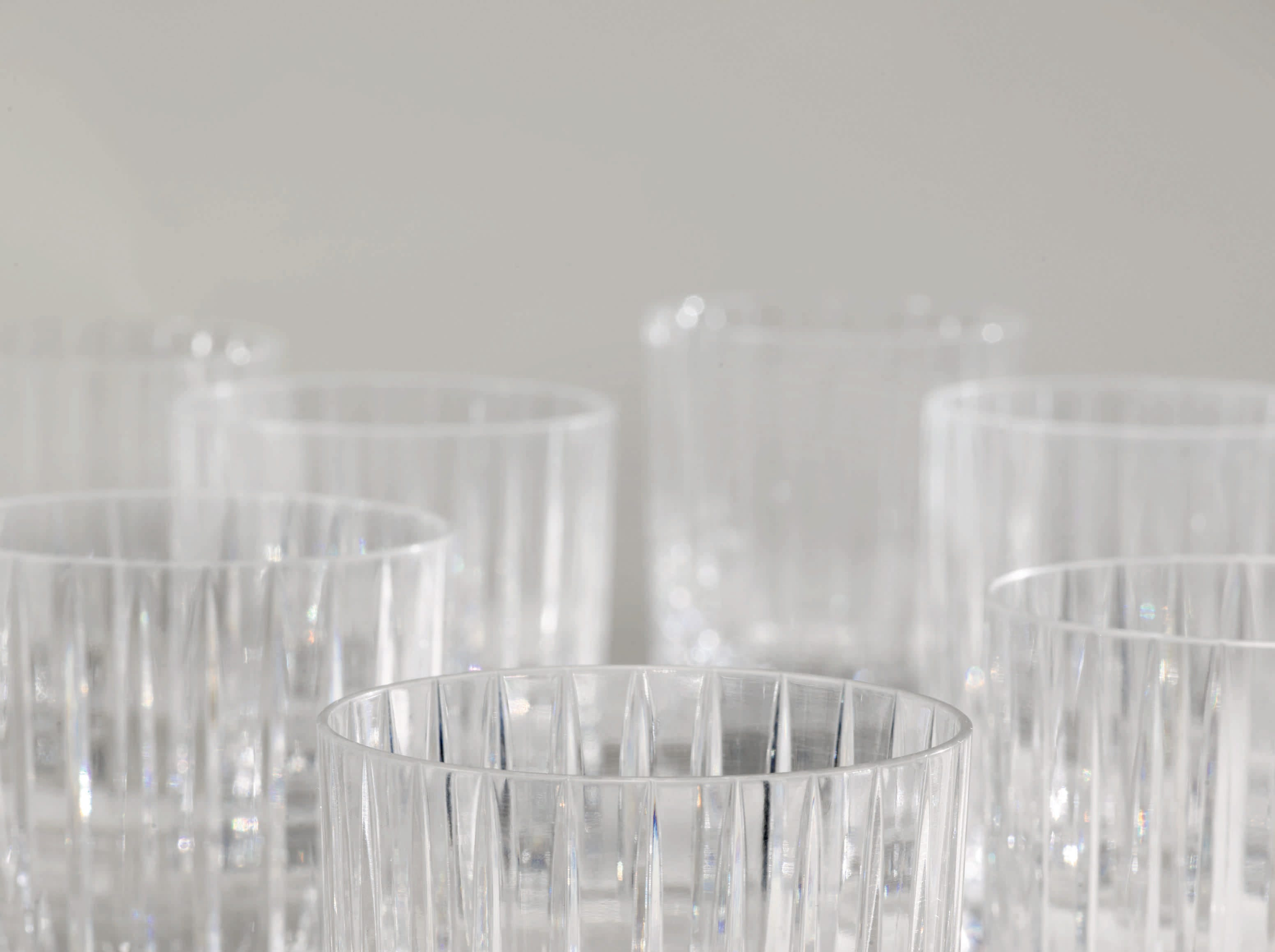 Baccarat cut glass Harmonie tumblers from the Sinatra collection