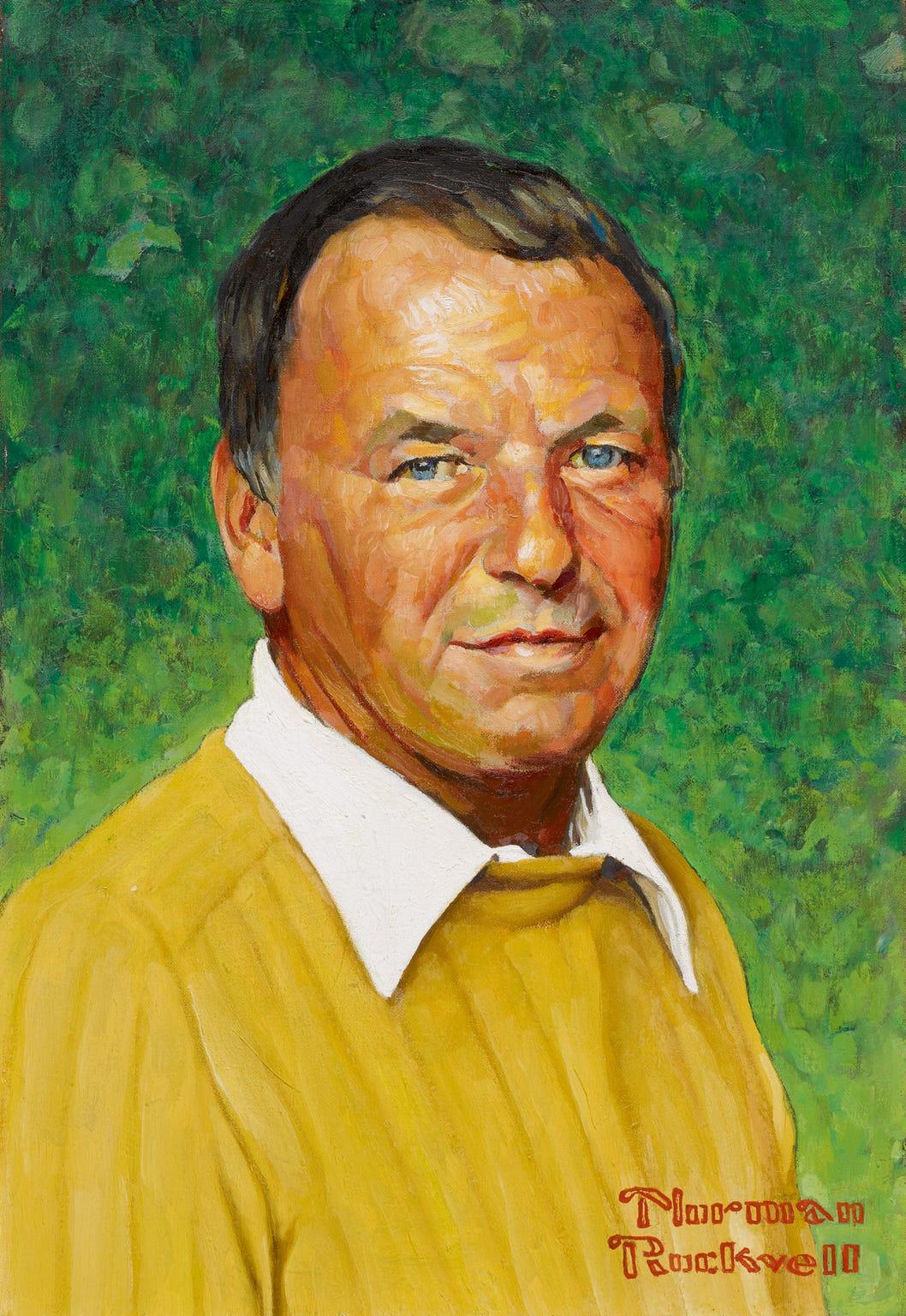 Norman Rockwell's 1973 portrait of Frank Sinatra