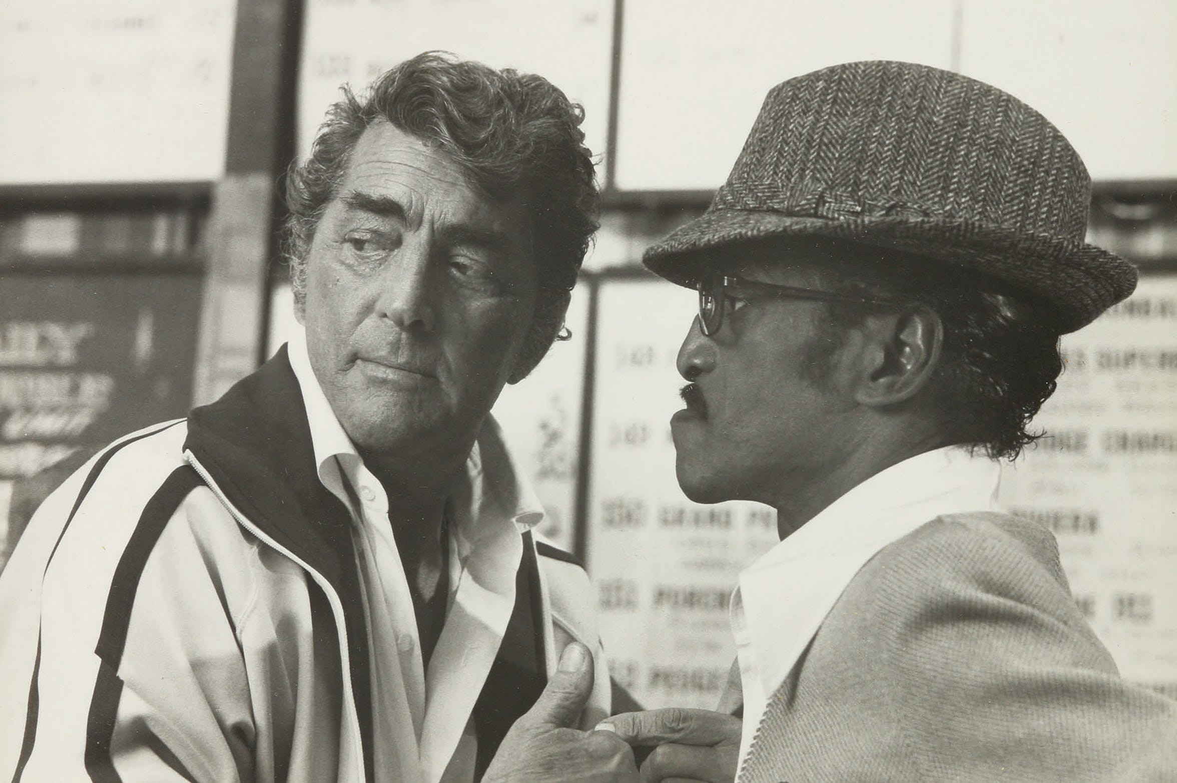 Photograph of Dean Martin and Sammy Davis Jr.