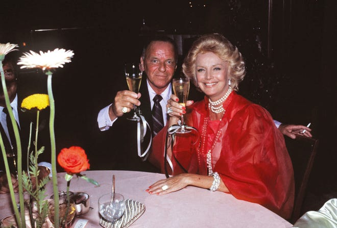 Frank Sinatra and Barbara Sinatra Sinatra's 6th wedding Anniversary July 11, 1984 in Palm Springs