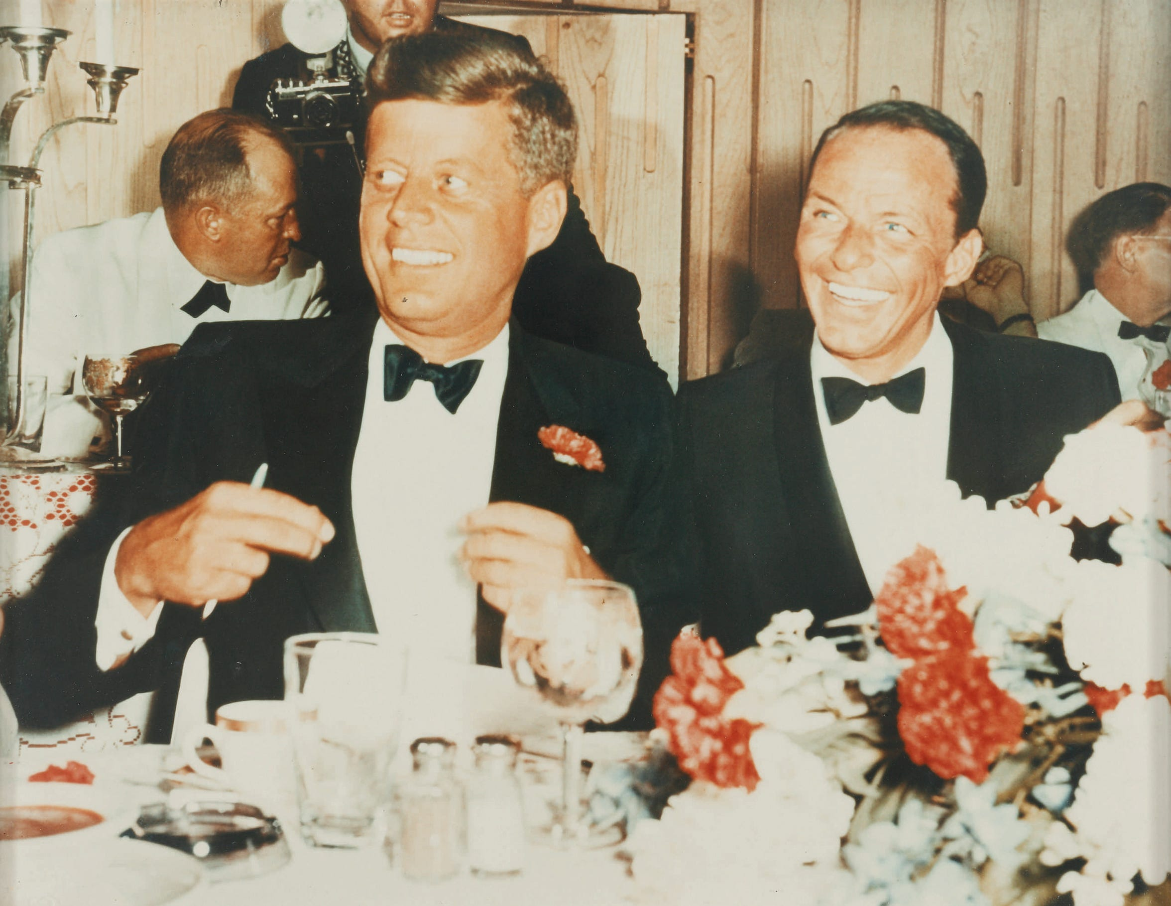 President John F. Kennedy and Frank Sinatra, pictured at the 1961 Inaugural Gala