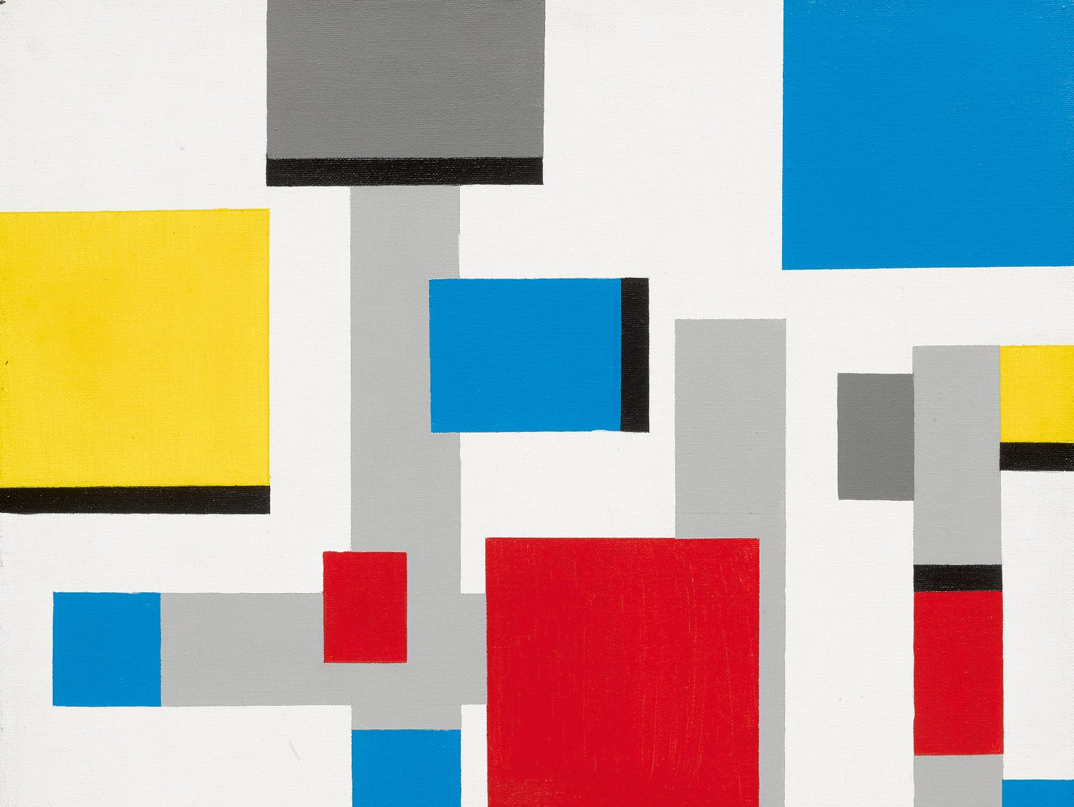 "Frank Sinatra painting, ""Abstract After Mondrian,"" 1991"