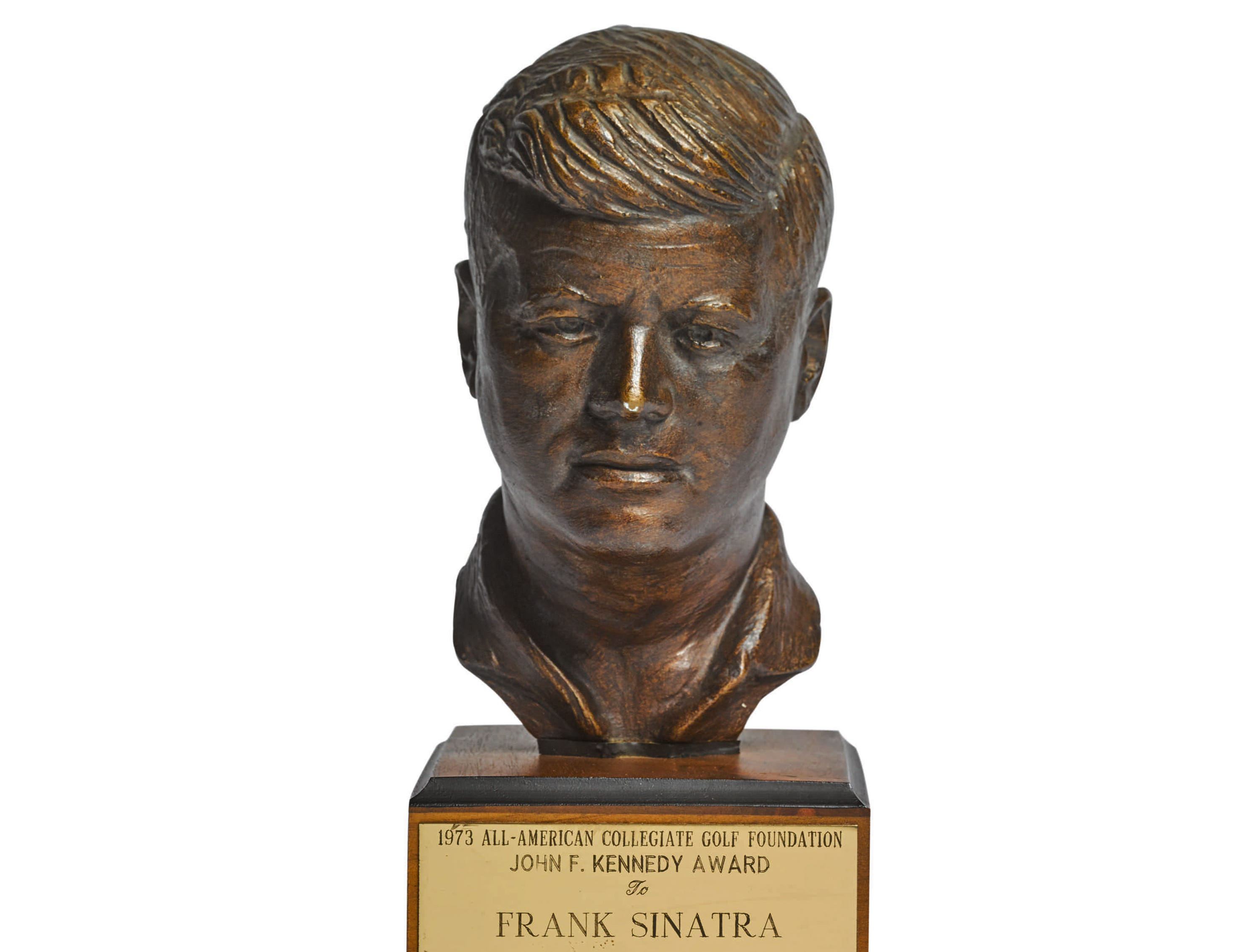 Frank Sinatra's All American Collegiate Golf Foundation John F Kennedy Award, 1973