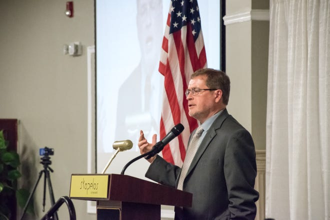 Grover Norquist spoke about the national economy at the Greater Chamber of Commerce annual meeting on Wednesday, Sept. 19, 2018.