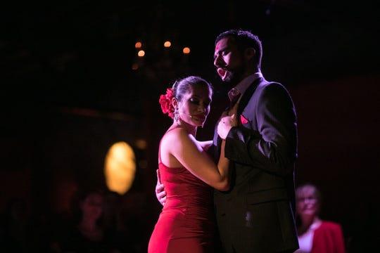 """Catalina Cuervo and Luis Orozco in """"Maria de Buenos Aires."""""""