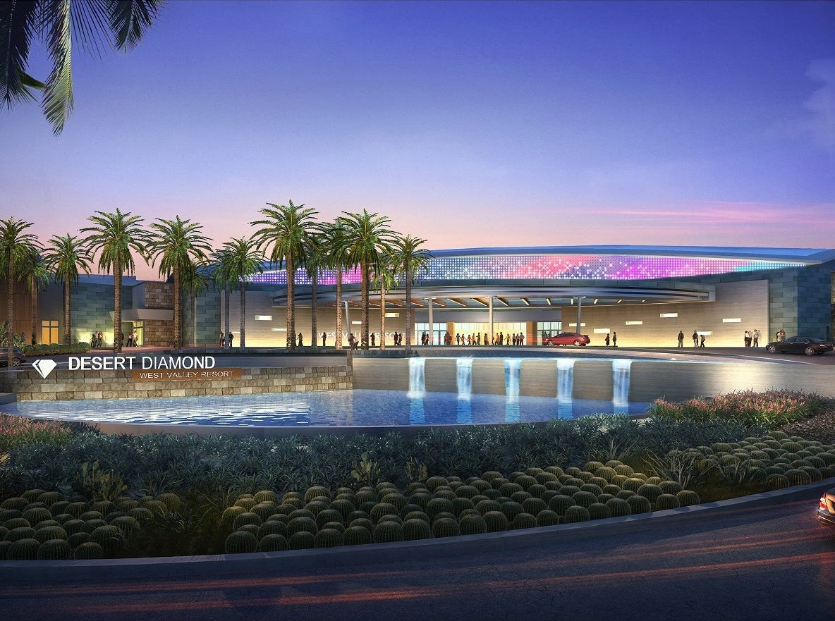 A rendering of Desert Diamond West Valley Casino