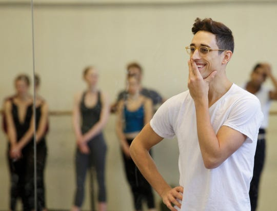 Justin Peck rehearsing one of his pieces at New York City Ballet.