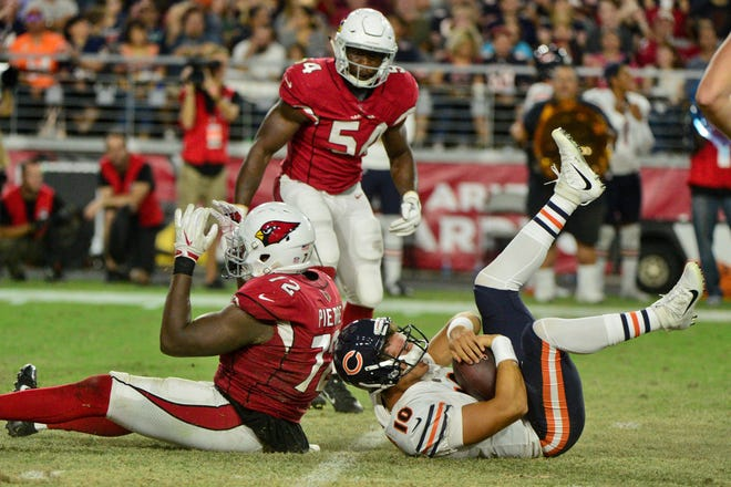 Will the Arizona Cardinals be able to get to Chicago Bears quarterback Mitchell Trubisky on Sunday?