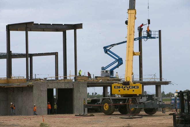 Construction in the expansion of the Desert Diamond West Valley Casino in Glendale on Sept. 19, 2018.