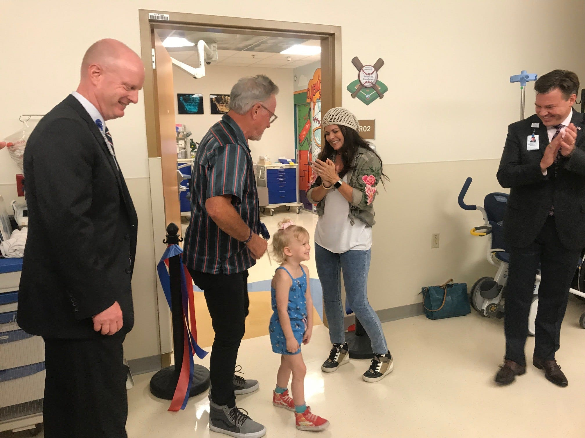 Chicago Cubs manager Joe Maddon celebrated the opening of two renovated pediatric outpatient treatment rooms at Cardon Children's Medical Center in Mesa on Sept. 18, 2018.